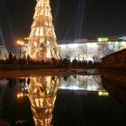 Christmas tree reflected