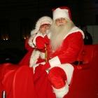 Santa Claus in a sledge