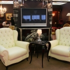 white armchairs