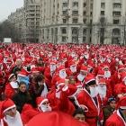 Santa Claus crowd