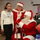 girl meets Santa