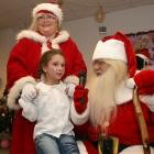 on Santa lap