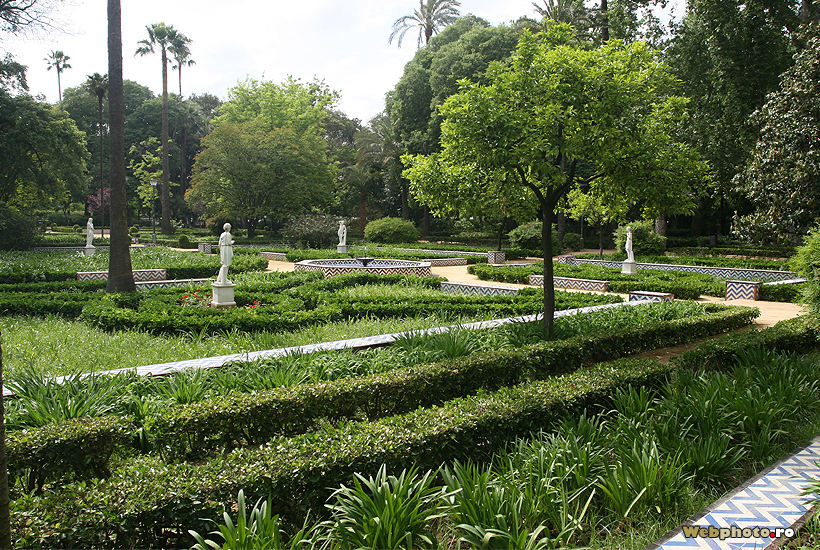 Gardens By Maria: White Doves In Maria Luisa Park, A Place Where The Arab