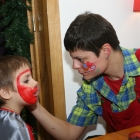 face painted spiderman