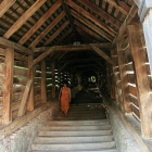 covered staircase