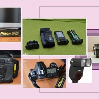 Nikon D300 cu grip + nikkor 35-70mm f/2.8 AF + blitz sigma 610 i-ttl